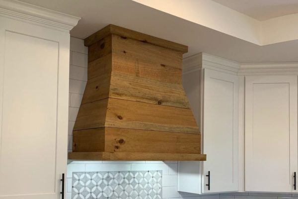 Wood Custom Hood Range Vent